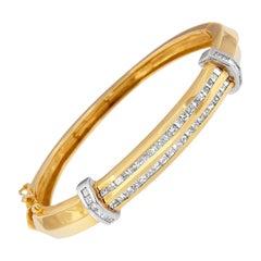 14K Two-Toned 2 3/4ct. TDW Diamond Bangle 'H-I, SI1-SI2'