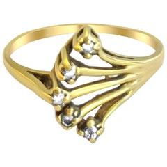 14 Karat Vintage Diamond Ring