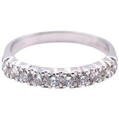 14 Karat White Gold 0.60 Carat Diamond Band
