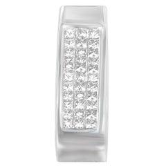 14k White Gold 1/2ct TDW Diamond Drop Pendant Necklace 'H-I, SI2-SI1'