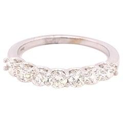 14K White Gold 1 Carat Diamond Band