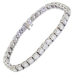 14k White Gold 10.50ct Diamond Line Tennis Bracelet