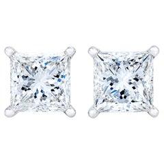 14K White Gold 1 Carat Diamond Stud Earrings