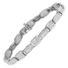 14K White Gold 2 1/2 ct TDW Diamond Tennis Link Bracelet 'H-I,SI1-SI2'