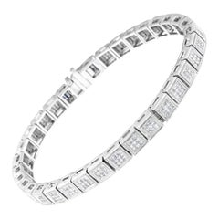14K White Gold 2 7/8ct. TDW Diamond Tennis Bracelet 'H-I, SI1-SI2'