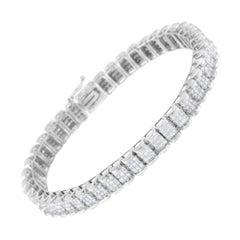 14K White Gold 5ct TDW Diamond Tennis Bracelet 'H-I,SI1-SI2'