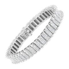 14k White Gold 7ct TDW Diamond Tennis Bracelet 'H-I,SI1-SI2'