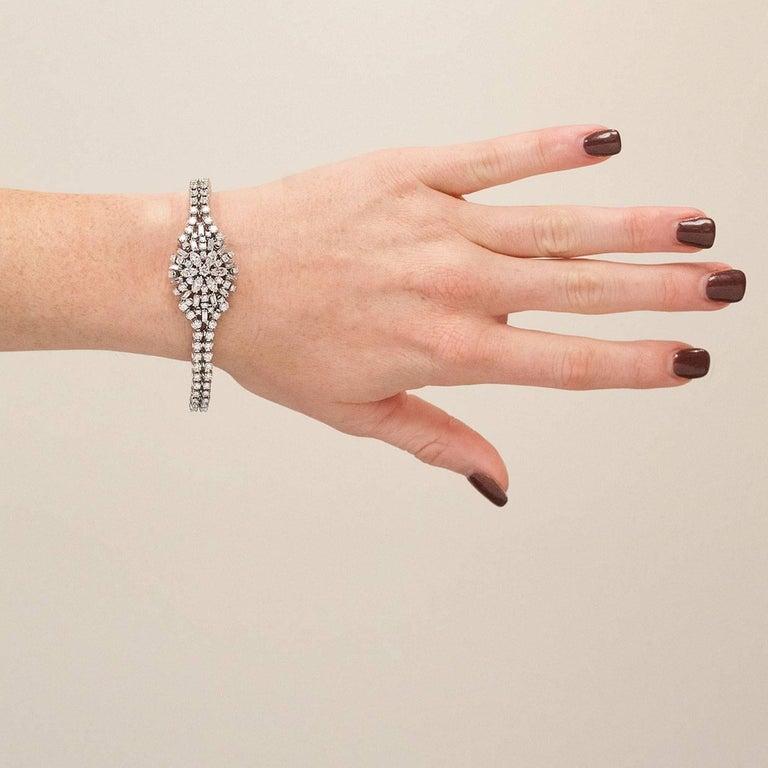 14 Karat White Gold 8 Carat Diamond Bracelet For 1