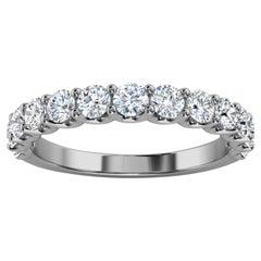 "14k White Gold Alina ""U"" Shape Diamond Ring '4/5 Ct. Tw'"