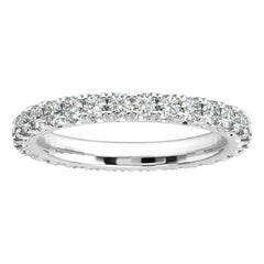 14k White Gold Audrey French Pave Eternity Ring '1 Ct. Tw'