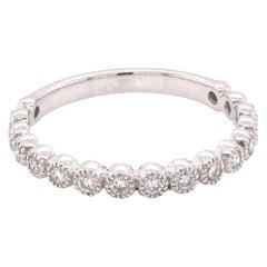 14 Karat White Gold Bezel Set Diamond Anniversary Ring