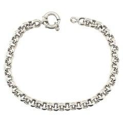 14K White Gold Chain Bracelet