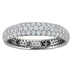 14K White Gold Christa Three Row Eternity Diamond Ring '4/5 Ct. Tw'