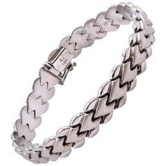14 Karat White Gold Custom Link Bracelet