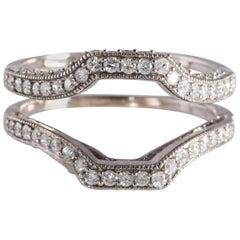 14 Karat White Gold Diamond Ring Enhancer Vintage Style 1.0 Carat Total Weight
