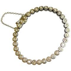 14 Karat White Gold Diamond Tennis Bracelet