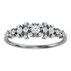 14K White Gold Kandi Organic Design Diamond Ring '1/4 Ct. tw'