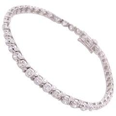 14K White Gold Lab Grown 3 Carat Diamond Tennis Bracelet