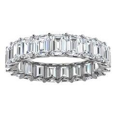 14K White Gold Leora Eternity Emerald Diamomd Ring '4 Ct. Tw'