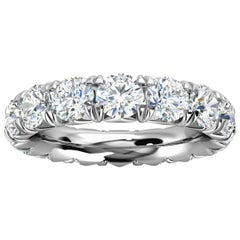 14k White Gold Mia French Pave Diamond Eternity Ring '4 Ct. Tw'