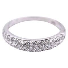 14 Karat White Gold Pave Diamond Engagement Band
