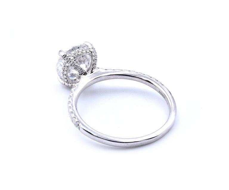 14 Karat White Gold Round Brilliant Cut Diamond Engagement Ring In Excellent Condition For Sale In Scottsdale, AZ