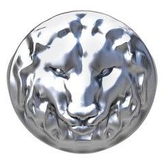 14 Karat White Gold Lion of Judah Signet Ring