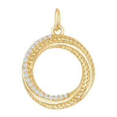 14 Karat Yellow Circle Pendant