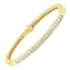 14K Yellow Gold 1 1/7 Ct TDW Diamond Tennis Bracelet 'G-H,VS1-VS2'