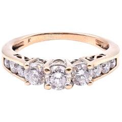 14 Karat Yellow Gold 1.00 Carat Diamond Ring