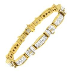 14K Yellow Gold 11 1/4ct. TDW Diamond Tennis Bracelet 'G-H,VS1-VS2'