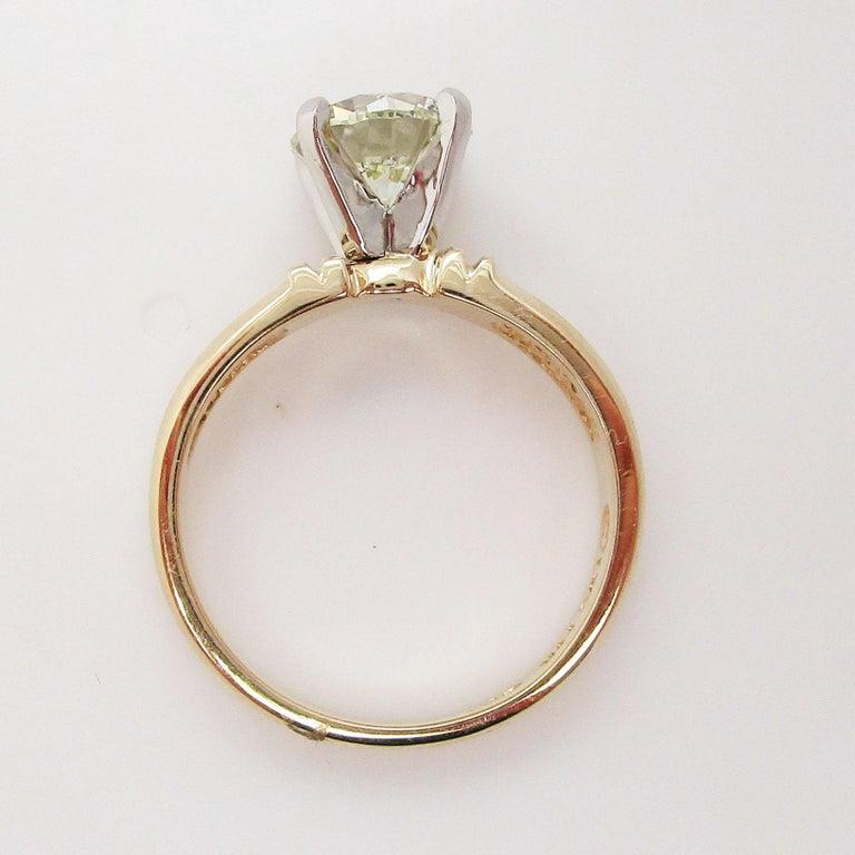 14 Karat Yellow Gold 1.5+ Carat Diamond Engagement Ring For Sale 4