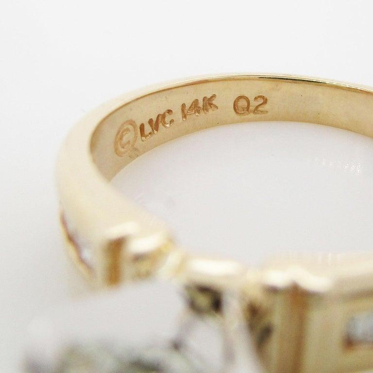 14 Karat Yellow Gold 1.5+ Carat Diamond Engagement Ring For Sale 5