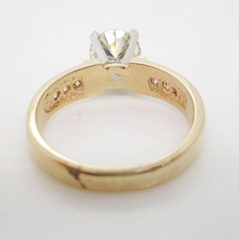 14 Karat Yellow Gold 1.5+ Carat Diamond Engagement Ring For Sale 3