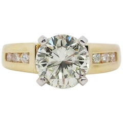 14 Karat Yellow Gold 1.5+ Carat Diamond Engagement Ring