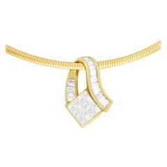 14k Yellow Gold 2 Cttw Diamond Vintage Pendant Necklace 'G-H,VS1-VS2'
