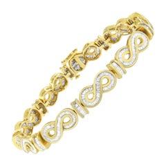 14k Yellow Gold 3 7/8 Ct. TDW Baguette-Cut Diamond Bracelet 'G-H,SI1-SI2'