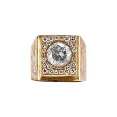 14k Yellow Gold 3.80 Carat Diamond Ring