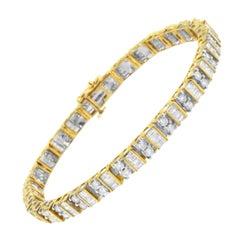 14K Yellow Gold 4ct. TDW Diamond Tennis Bracelet 'I-J, I1-I2'