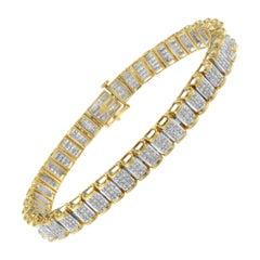 14k Yellow Gold 5ct TDW Diamond Tennis Bracelet 'H-I,SI2-I1'
