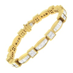 14K Yellow Gold 8 1/8ct. TDW Diamond Tennis Bracelet 'G-H,VS1-VS2'