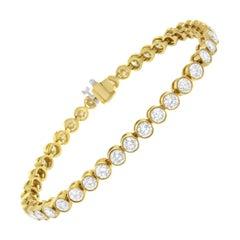 14K Yellow Gold 8ct. TDW Round-Cut Diamond Bracelet 'H-I,SI1-SI2'