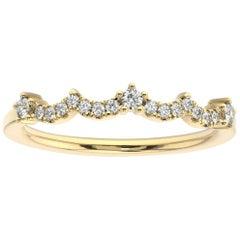14K Yellow Gold Agnes Diamond Ring '1/16 Ct. Tw'