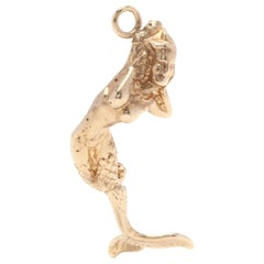 14 Karat Yellow Gold Articulated Mermaid Charm / Pendant