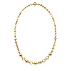 14 Karat Yellow Gold Atmosphere Bead Necklace