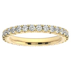 14K Yellow Gold Audrey French Pave Eternity Ring '1 Ct. tw'