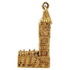 14K Yellow Gold Big Ben Charm