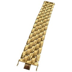 14 Karat Yellow Gold Bracelet Extra Large, Italy, 1955