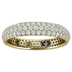 14K Yellow Gold Christa Three Row Eternity Diamond Ring '4/5 Ct. Tw'