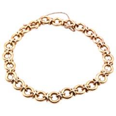 14 Karat Yellow Gold Circular Link Bracelet